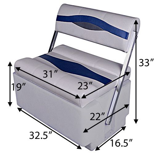 Gray, Blue & Charcoal Pontoon Boat Seats                                                                                                                                                                                 More