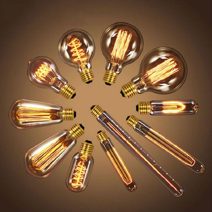220 הנורה הליבון v רטרו ST64 מנורת הנורה אדיסון בציר E27 אורות חג מנורת ליבון 40 w אדיסון אור הנורה