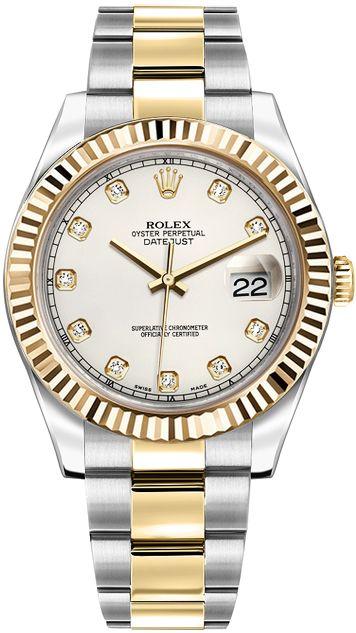 Rolex Datejust II 41 116333: 116333-IVRDFO ROLEX DATEJUST II MEN'S LUXURY WATCHIN STOCK - FREE Overnight Shipping | Lowest Price Guaranteed…