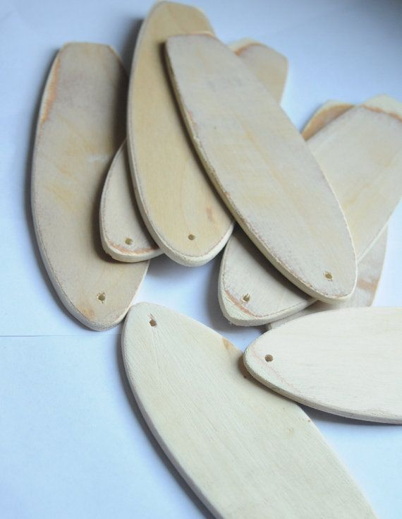 Mini Surfboards with Holes Handmade Beach Party by Seagypsys, $20.00