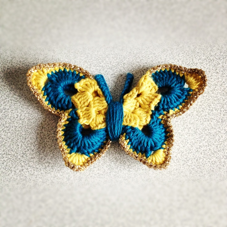 Butterfly headband crochet Pinterest