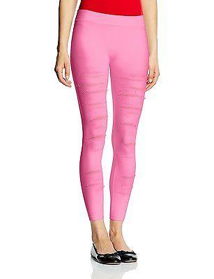 One Size, Pink - Rosa (neon pink 575), Luigi di Focenza Women's Zerrissene Damen