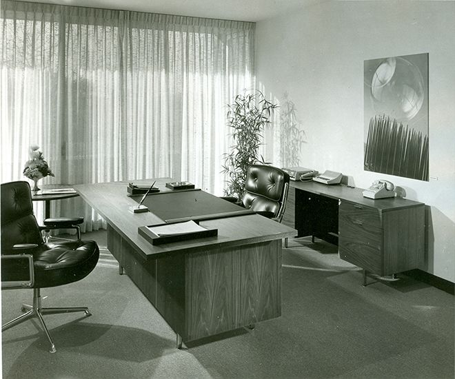 An Enviable Office With Eames Executive Chairs And Nelson