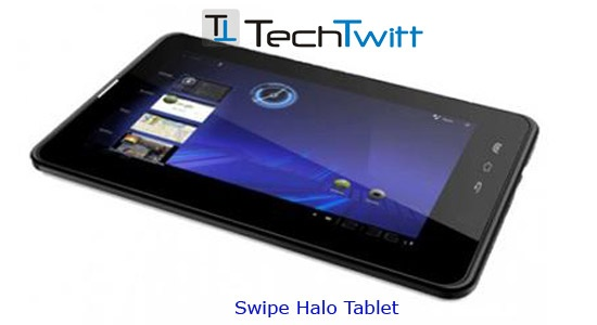 Swipe Halo Tablet Launched in India at Rs. 6990