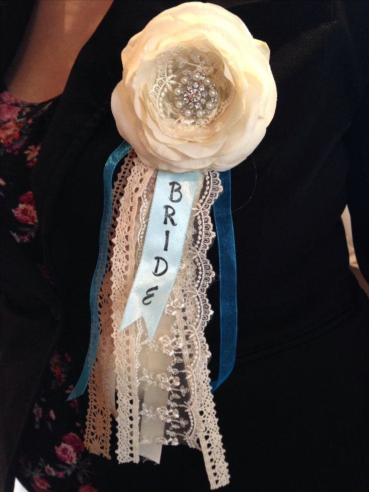 My sash at the bridal shower
