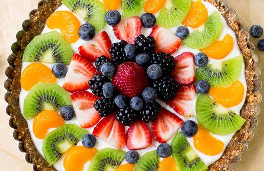 Jogurtová fitness torta s ovocím
