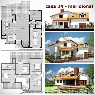 Case Arhidesign: Case parter-mansarda