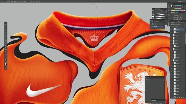 """NIKE DUTCH TEAM KIT 2014 IN COLLABORATION WITH NIKE ASIA & KULT MAGAZINE   -  Music : Flight Facilities - Claire de lune Software: Adobe Photoshop. Time : 5hours For more work: www.rikoostenbroek.com  """"Nike has commissioned a series of 25 football-inspired artworks, which will be showcased in an interactive exhibition in Singapore this month.  The work, which was created by 25 different artists chosen from around the world by Kult, is set to be displayed at the 10 day 'Hypersense: The…"""