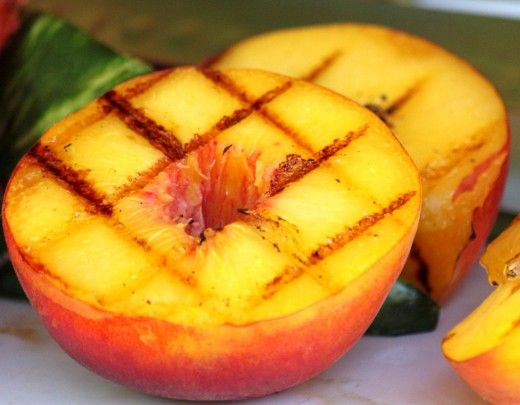 Grilled peaches are delighful