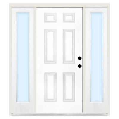 Steves sons premium 6 panel primed white steel left hand for 10 panel glass door