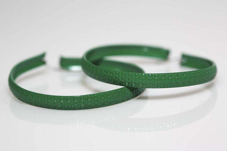 Large Green Metal Hoops