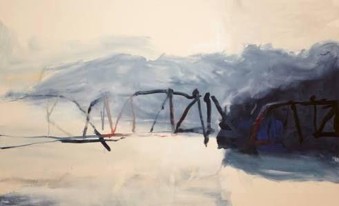 david collins - Hawkesbury River Crossing - Wynne Prize 2014