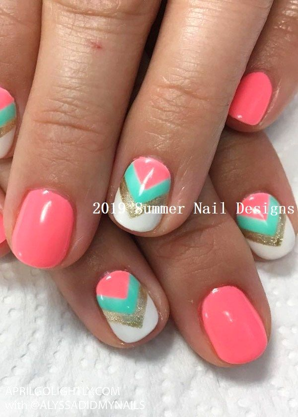 33 Cute Summer Nail Design Ideas 2019 2019nails Fruit Nail Art Nail Designs Spring Spring Nail Art