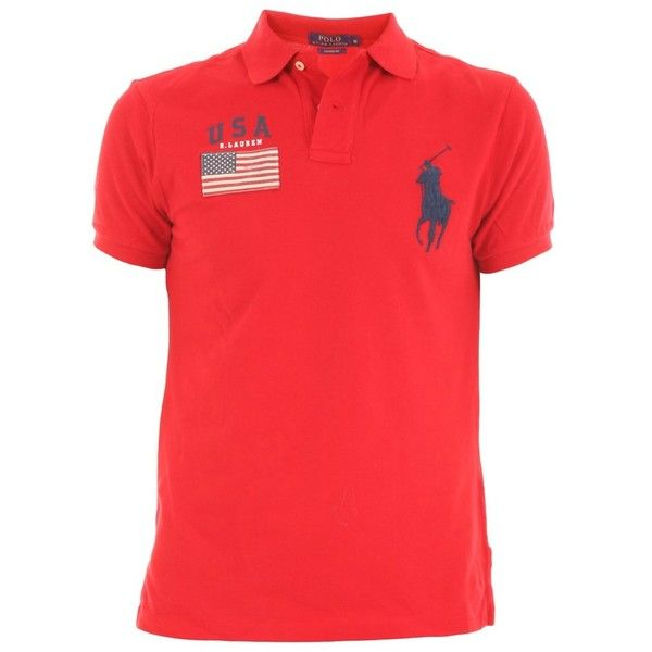 Ralph Lauren Ralph Lauren Men's Red Cotton Polo Shirt | Bluefly.Com (200 CAD) ❤ liked on Polyvore featuring men's fashion, men's clothing, men's shirts, men's polos, red, mens red shirt, mens cotton shirts, ralph lauren mens shirts, mens red polo shirt and men's cotton polo shirts