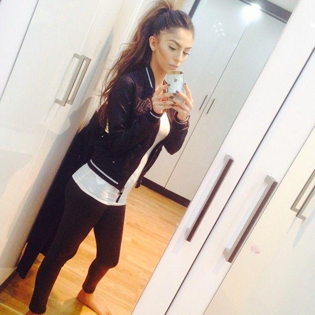 her jogging gear