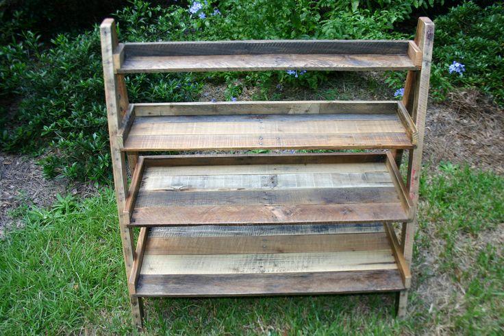 Reclaimed wood ladder shelf book shelf floor standing - Reclaimed wood ladder shelf ...