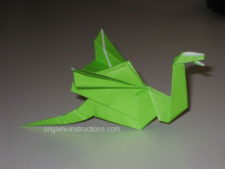completed origami dragon-3