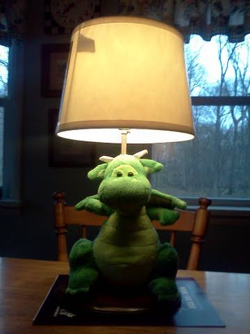Dragon Lamp! Perfect for a baby shower present for the nursery! :)
