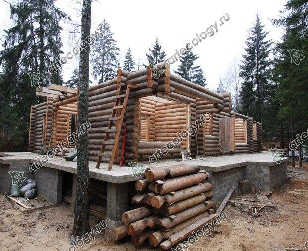 Реконструкция дома из лиственницы 2012 год. Разборка бревенчатых стен.