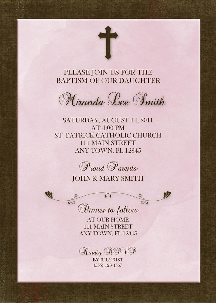 free online christening invitation making%0A Girl Baptism Invitation