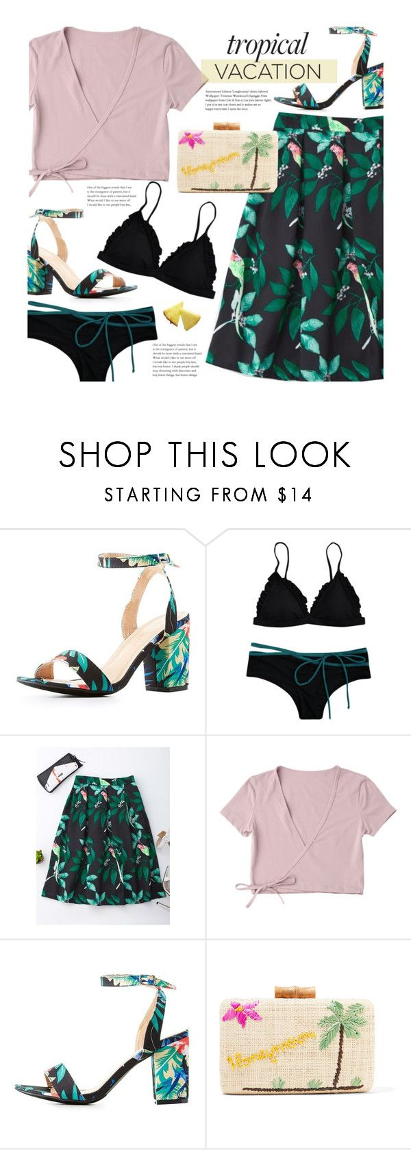 """""""Welcome to Paradise: Tropical Vacation"""" by beebeely-look ❤ liked on Polyvore featuring Chase & Chloe, Kayu, tropical, bikini, tropicalprint, TropicalVacation and zaful"""