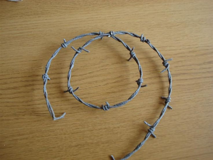 How to make cheap fake barb wire. This is just so stinkin' clever!  via instrustables