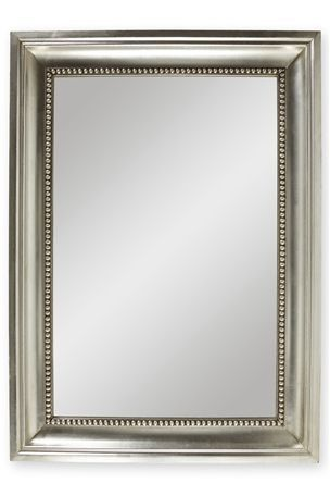 Pewter Beaded Mirror