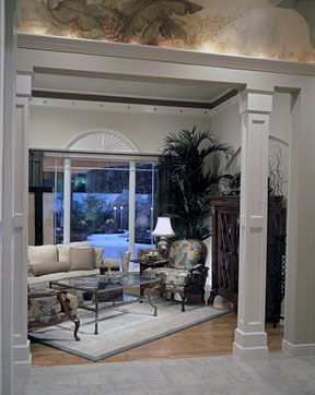 wooden columns for inside house | your home using decorative molding and interior columns. The interior ...