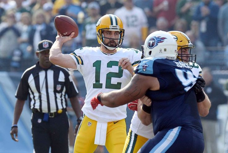 Packers vs. Titans:  47-25, Titans  -  November 13, 2016  -      Green Bay Packers quarterback Aaron Rodgers (12) passes against the Tennessee Titans in the first half of an NFL football game Sunday, Nov. 13, 2016, in Nashville, Tenn.