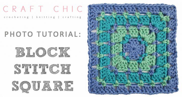 Craft Chic Block Stitch Square Tutorial