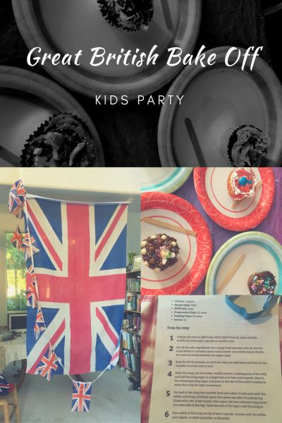 My kids are huge Great British Bake Off fans so my daughter chose a bake-off themed party for her 9th birthday. The idea of ten children all baking together at the same time was a little dau…