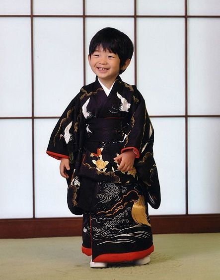 Prince Hisahito of Akishino at his 4th birthday - he is actually third in line to become Emperor of Japan.