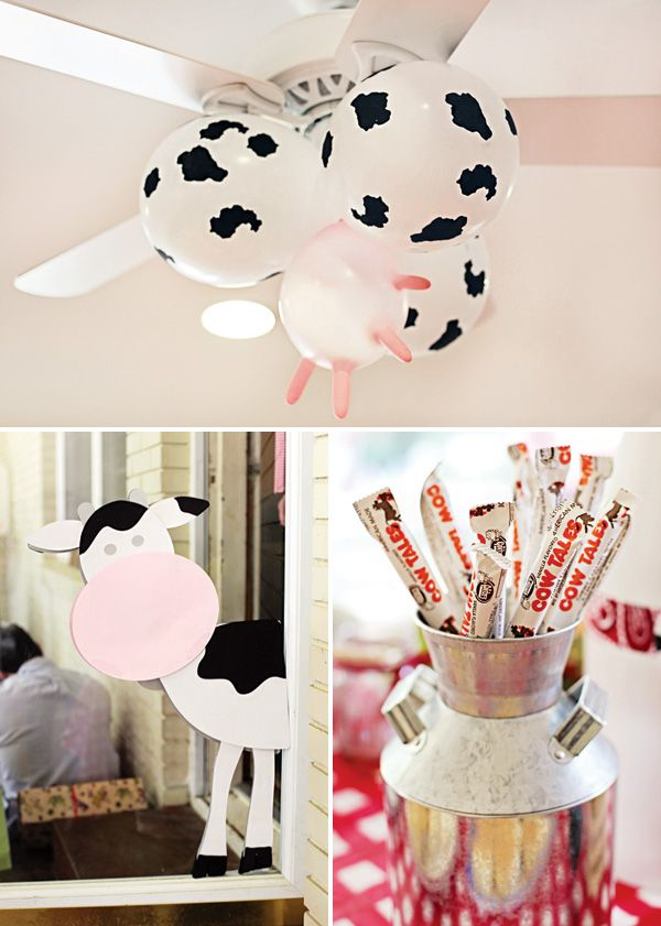 Cow udder balloons & chocolate cow tails — bring the dairy farm to the party!