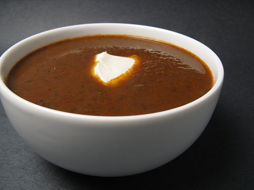 Red Pepper and Black Bean Soup | Eats | Pinterest