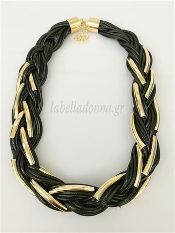 Labelladonna.gr - Κολιέ μάυρο μέταλλα