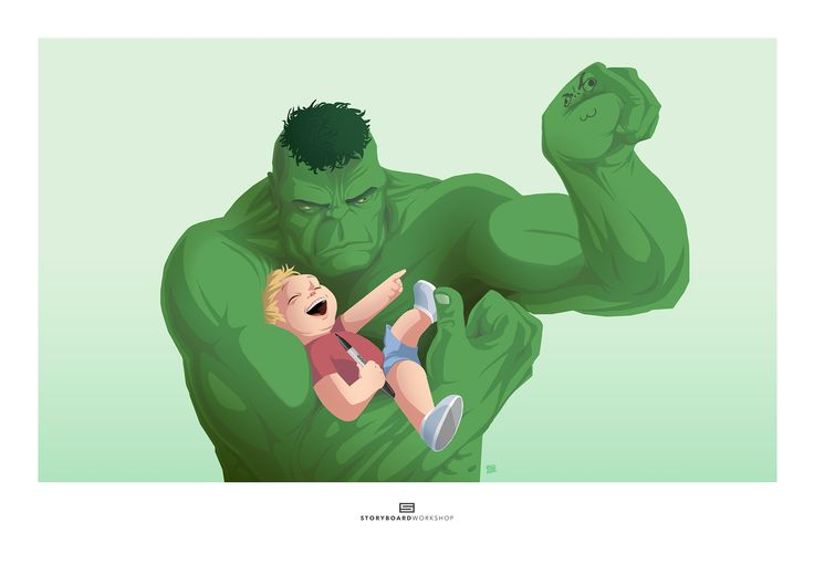 "MARVELOUS MEN | Dylan + Bruce (From the Series ""Dylan and Friends"") - Marvel Incredible Hulk Bruce Banner Little Boy Character Design Superhero Humour Personal Children's Illustration Commission"