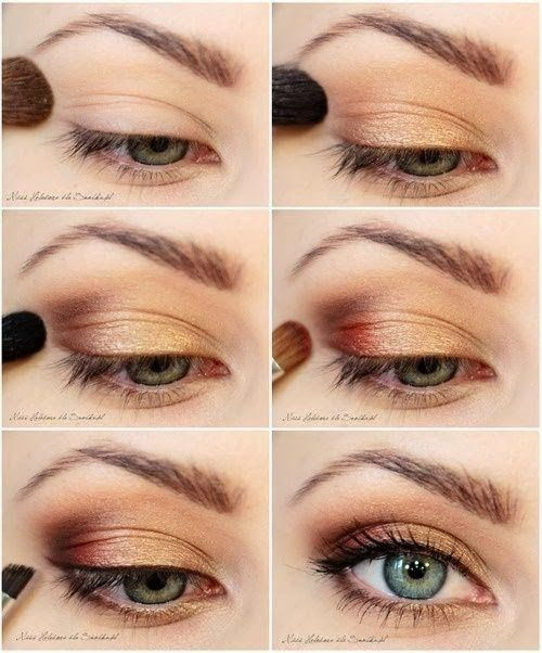 Bronze. Winter Eye Makeup Siga/ Follow>>>> https://www.pinterest.com/paraguaiooh/ https://www.facebook.com/paraguaiooh http://caixadepresente.tumblr.com/ https://twitter.com/?lang=pt