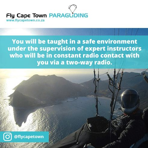 Learning to paraglide with Fly Cape Town Paragliding is easy, safe and lots of fun! Learn more about our training.