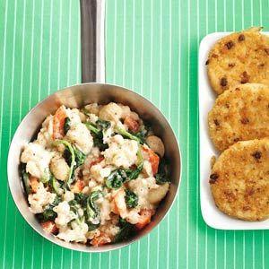 Recept - Wittebonenstamp spinazie-tomaat - Allerhande