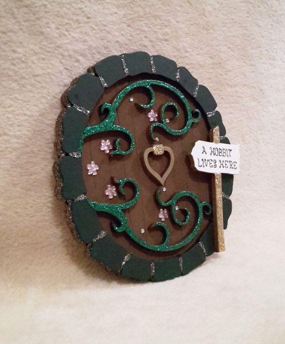 Fairy Door  Wooden Hobbit Door Handpainted by TheLittleFairydoor