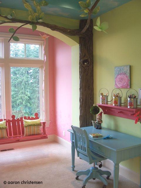 Love the swing custom themed kids rooms children 39 s room for Swing for kids room
