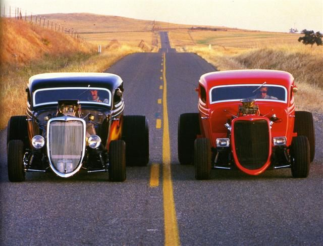Great photo! Hot Rod street race! Photo found here: http://www.legendarycollectorcars.com/product-review-2/product-review/hot-rod/