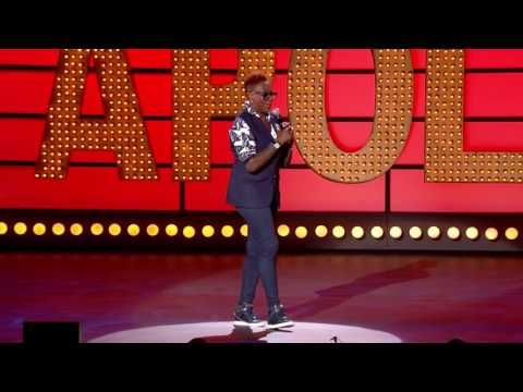 Gina Yashere Live at the Apollo - YouTube  Start about 7:30 for piece on careers that is kid friendly.