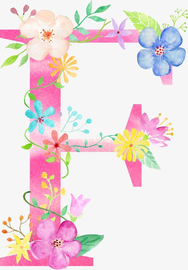 Flores Carta F Carta Flor F Png Y Psd Para Descargar Gratis Pngtree Flower Alphabet Flower Letters Watercolor Lettering