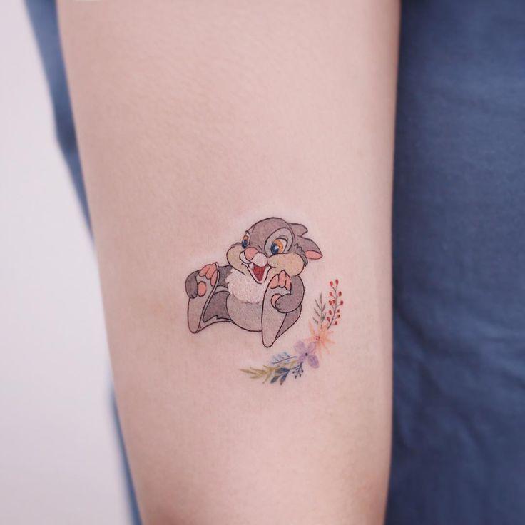 """Thumper tattoo – Disney tattoos  STUDIOBYSOL _ saegeem on Instagram: """"Thumper🐰 . . #saegeemtattoo #새김타투 #studiobysol #tattoo #타투"""