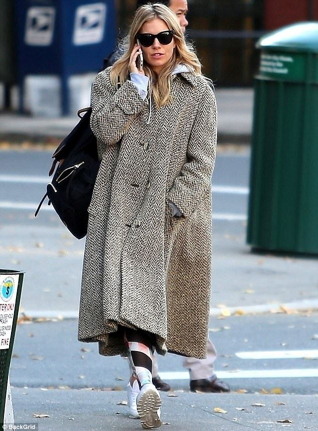It s good to talk  Sienna Miller was spotted talking on her phone as she  made her way across the street in New York on Tuesday 92eadcb002