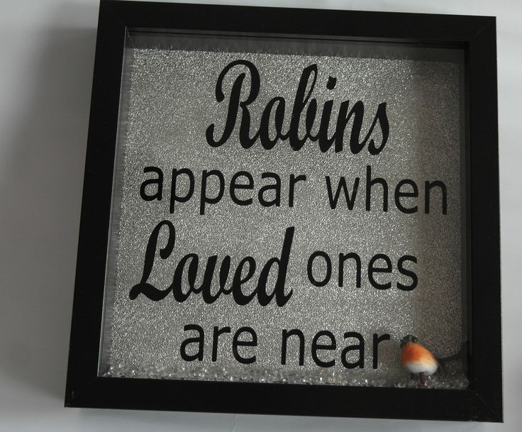 """Picture Frames """"Robins appear when loved ones are near"""" Memorial love by DigbysStore on Etsy"""