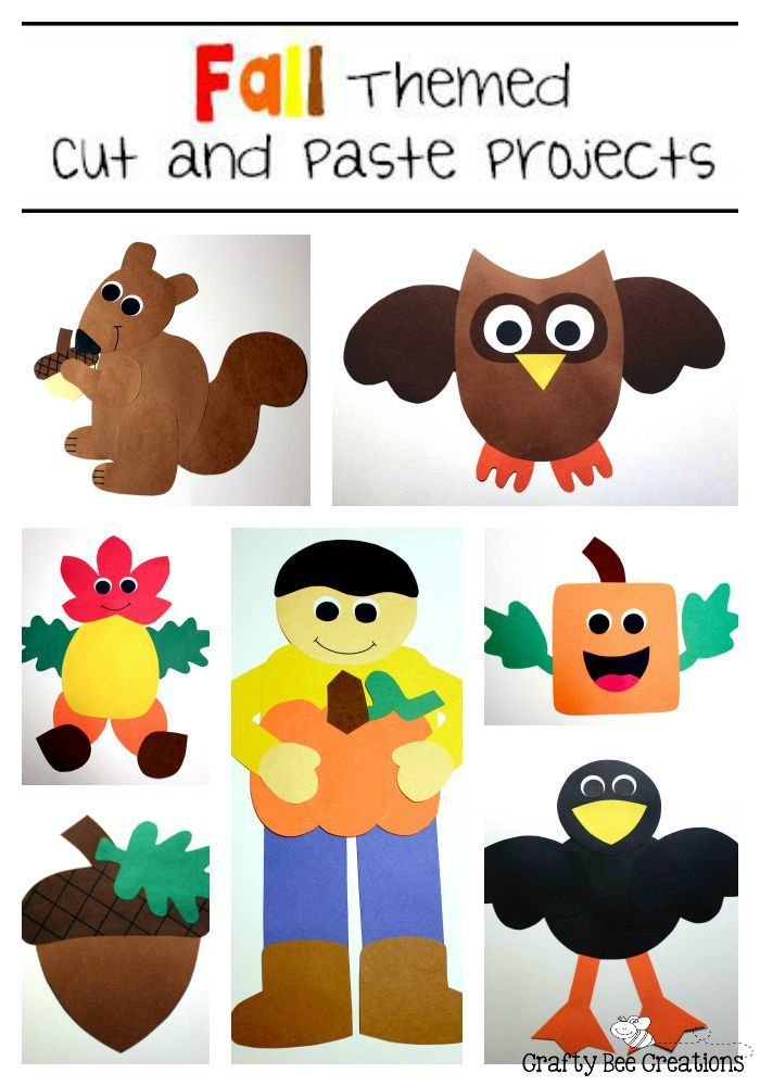 Fall Cut And Paste Patterns For Kiddos To Do Just Print