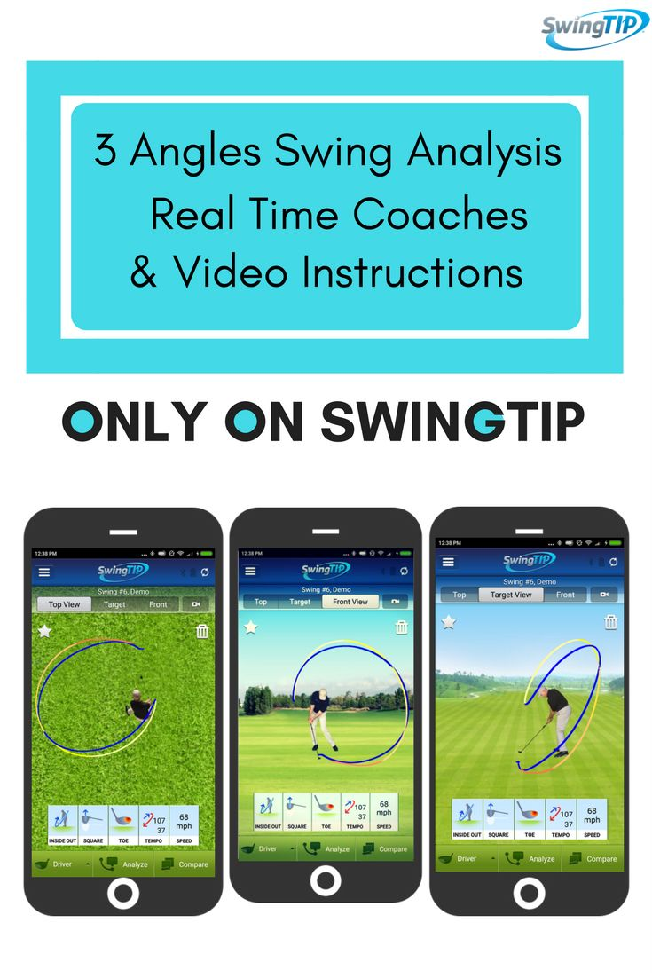 3 Angle Analysis for your swing with instant video instructions only on SwingTIP. https://mobicoach.com/product/swingtip-golf-swing-analyzer/
