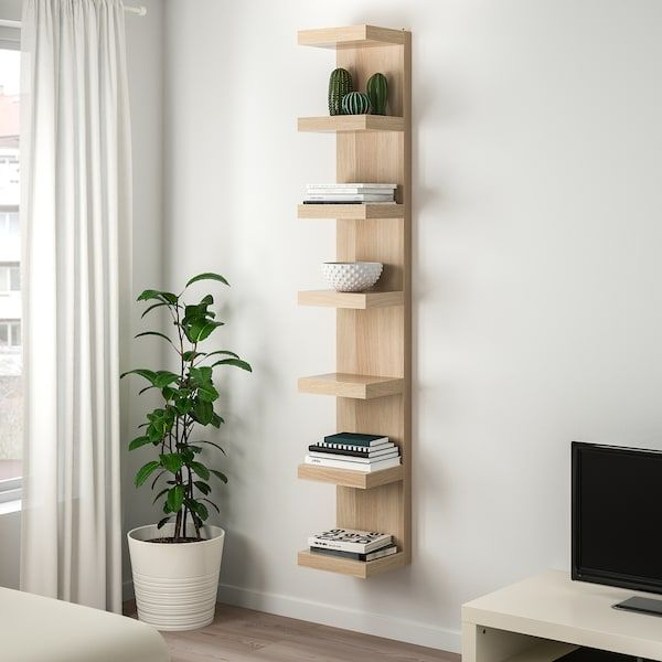 Lack Wall Shelf Unit White Stained Oak Effect 11 3 4x74 3 4